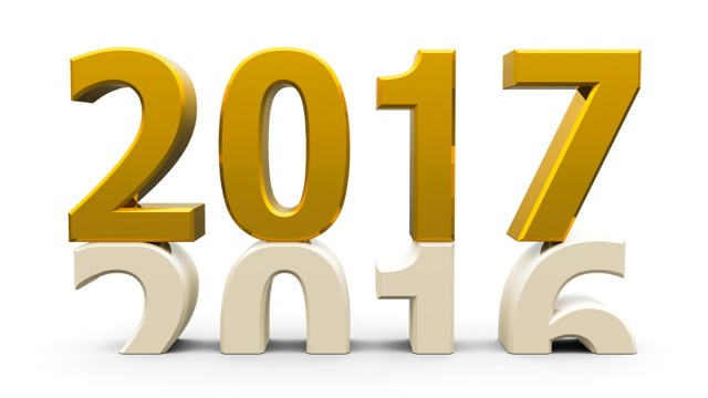 2016-2017 change represents the new year 2017 three-dimensional rendering