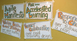 Adult learning, Training from the back of the room Agile Manifesto