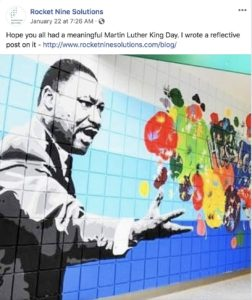 Servant leadership, Martin Luther King Jr, Rocket Nine Solutions, Agile coaching and training Nashville