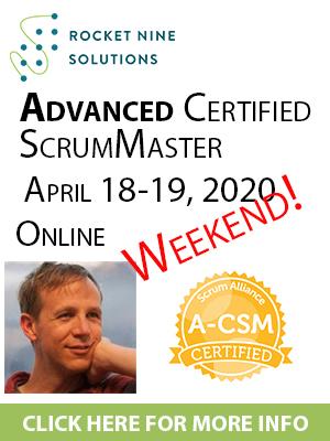 online advanced certified scrum master training