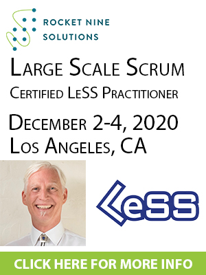 large scale scrum training LeSS clp