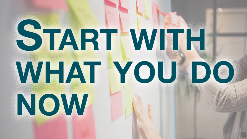 Kanban Start with what you do now