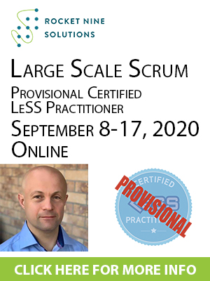online provisional certified large scale scrum practitioner training, pclp training