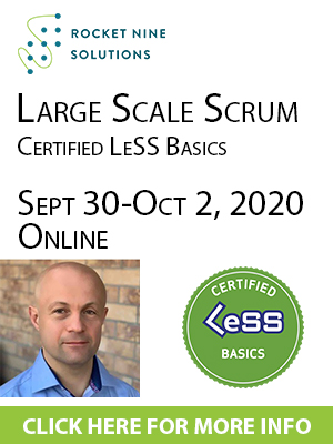 online certified large scale scrum basics training, clb training